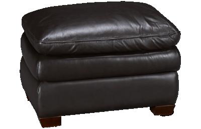 Futura Oslo Leather Ottoman