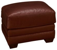 Klaussner Home Furnishings Cassidy Leather Ottoman