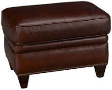 Futura Cordovan Leather Ottoman