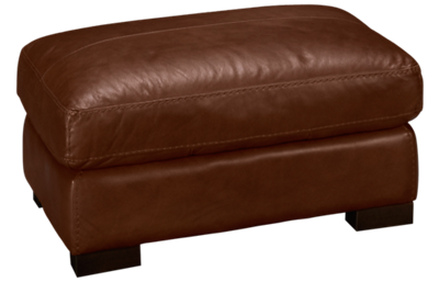 Soft Line Dallas Leather Ottoman