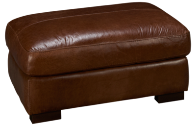 Soft Line Pista Leather Ottoman