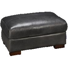 Soft Line Pista Grey Leather Ottoman