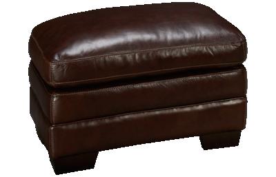 Simon Li Amarillo Leather Ottoman