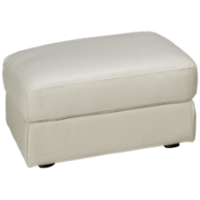 Natuzzi Editions Delaney Leather Ottoman