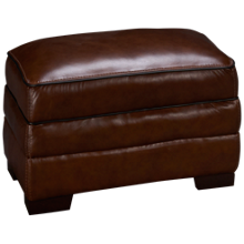 Simon Li Bramble Leather Ottoman