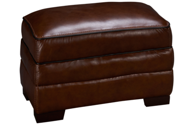 Simon Li Bramble Leather Ottoman