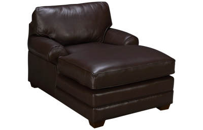 Klaussner Home Furnishings Selection Leather Chaise Lounge