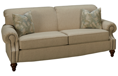 Flexsteel South Hampton Sofa with Nailhead