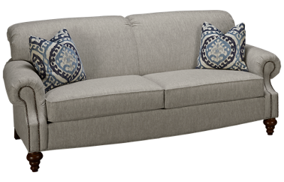 Flexsteel South Hampton Sofa with Nailhead Trim