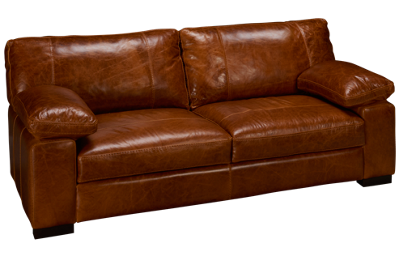 "Soft Line Dallas 87"" Leather Sofa"