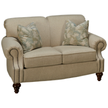 Flexsteel South Hampton Loveseat with Nailhead