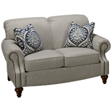 Flexsteel South Hampton Loveseat with Nailhead Trim