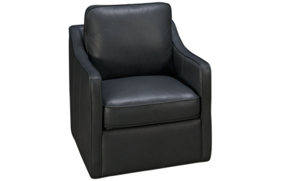 Simon Li Luxe Leather Swivel Chair
