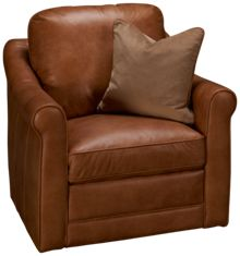 Simon Li Muttak Leather Swivel Chair