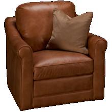 Simon Li Muttak Leather Swivel Chair