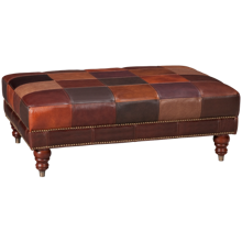 Futura Patchwork Leather Cocktail Ottoman