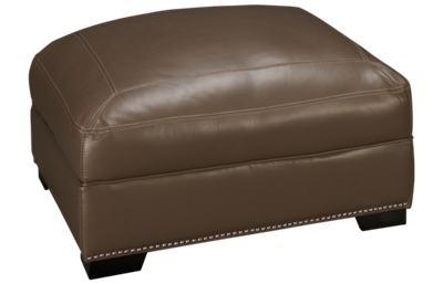 Simon Li Menjikat Leather Cocktail Ottoman