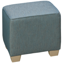 Capris You Design Wood Base Cube Ottoman