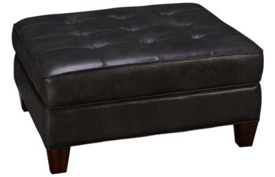Flexsteel Lennox Leather Square Cocktail Ottoman