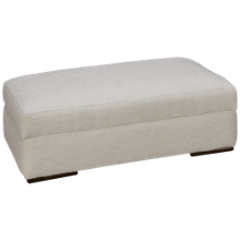 Klaussner Home Furnishings Flagler Storage Ottoman