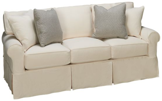 Rowe-Nantucket-Rowe Nantucket Queen Sleeper Sofa with Slipcover - Jordan's Furniture