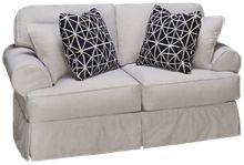 Rowe Addison Loveseat with Slipcover