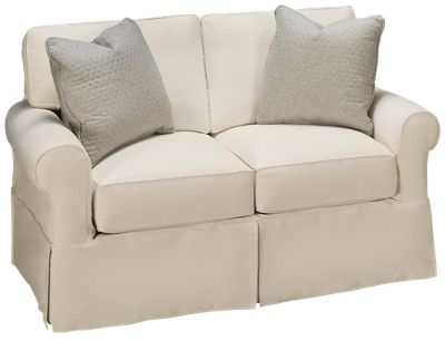 Exceptionnel Rowe Nantucket Rowe Nantucket Loveseat With Slipcover   Jordanu0027s Furniture