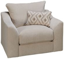 United Luxe Tan Swivel Chair & 1/2