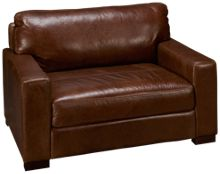 Soft Line Pista Leather Chair & 1/2