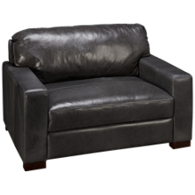 Soft Line Pista Grey Leather Chair & 1/2