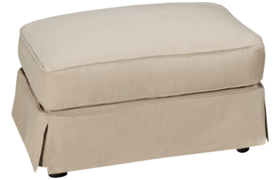 Synergy Montague Ottoman with Slipcover