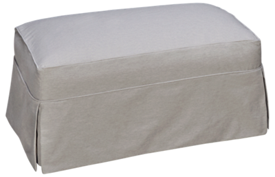 Rowe Addison Ottoman with Slipcover