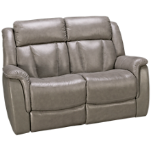 Futura Roswell Leather Power Loveseat with Tilt Headrest