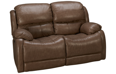 Futura Alta Power Leather Loveseat Recliner with Power Tilt Headrest