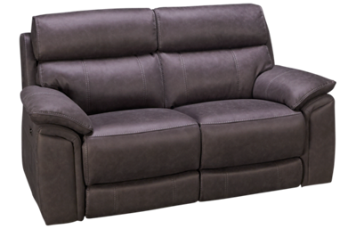 HTL Furniture Nash Dual Power Loveseat Recliner with Tilt Headrest