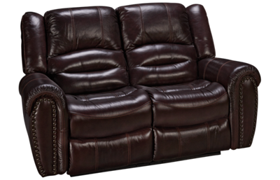 Flexsteel Crosstown Leather Power Loveseat Recliner with Tilt Headrest