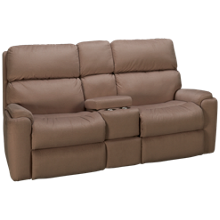 Flexsteel Rio Power Reclining Loveseat with Console and Power Headrest