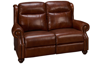 Era Nouveau Braden Leather Power Loveseat Recliner with Power Tilt Headrest