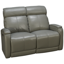 Futura Andros Leather Power Loveseat Recliner with Tilt Headrest