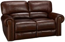 Era Nouveau Norton Leather Power Loveseat Recliner