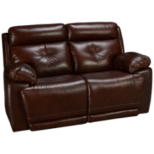 Futura Archer Leather Power Loveseat Recliner with Power Tilt Headrest