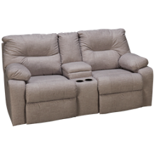 Klaussner Home Furnishings Toronto Power Loveseat Recliner with Console