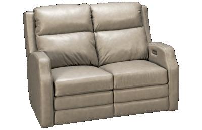 Klaussner Home Furnishings Kamiah Leather Dual Power Loveseat