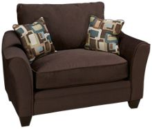 American Furniture Flannel Chair And 1/2