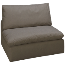 Synergy Peyton Armless Swivel Chair with Slipcover