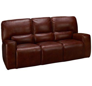 Futura-Chestnut-Futura Chestnut Leather Power Sofa Recliner with ...