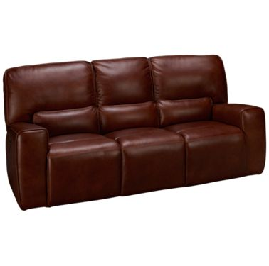 Futura-Chestnut-Futura Chestnut Leather Power Sofa Recliner with ...