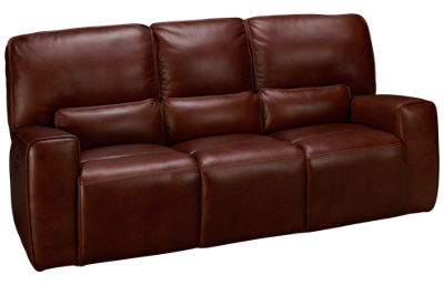 Futura Chestnut Leather Power Sofa Recliner with Tilt