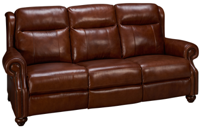 Era Nouveau Braden Leather Power Sofa Recliner with Power Tilt Headrest