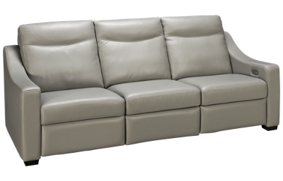 American Leather A Series Leather Dual Power Sofa